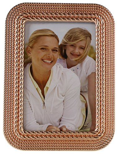 Concepts by Klikel 4x6 Rose Gold Braided Layered Rope Chains Picture Photo Frame Vertical