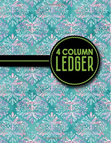 4 Column Ledger: Account Book Ledger, Accounting Notebook Ledger, Ledger For Accounting, Hydrangea Flower Cover, 8.5