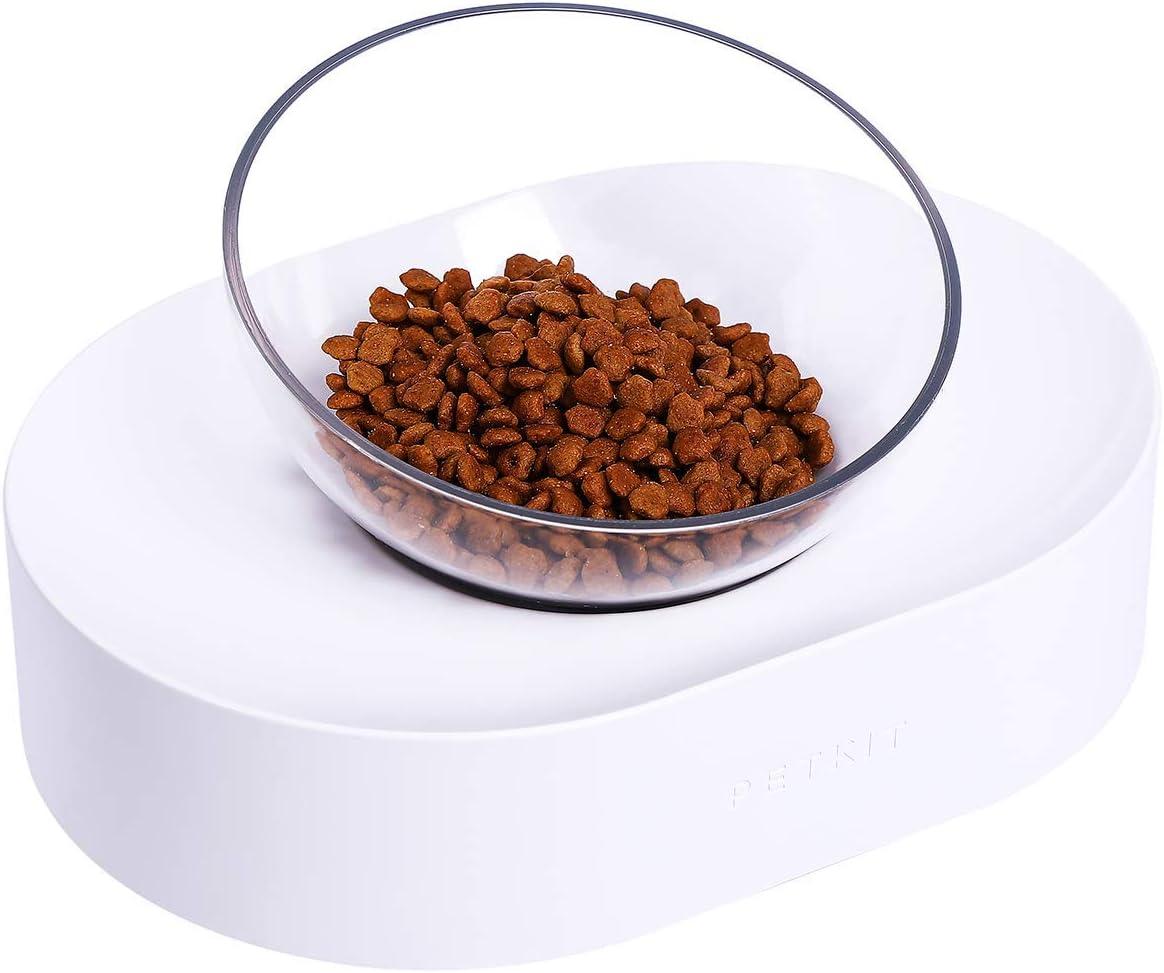 PETKIT Tazón para mascotas con base antideslizante Tazón de comida perfecto para gatos y perros pequeños Reduce la presión cervical