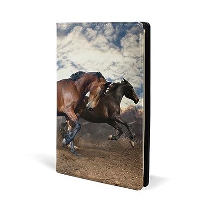 COOSUN - Funda de piel para libro de caballos de correr Sox para ...