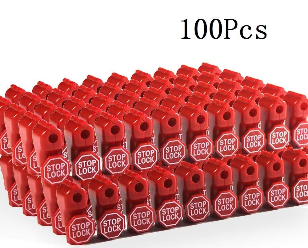 Cedmon 100Pcs 6mm Red Retail Shop Security Display Hook Anti Sweep Theft Stop Lock