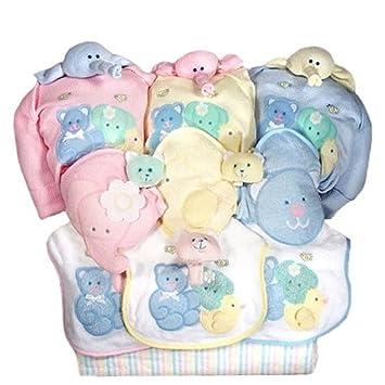 Amazon.com: Cesta de Regalo Baby Shower para trillizos (rosa ...