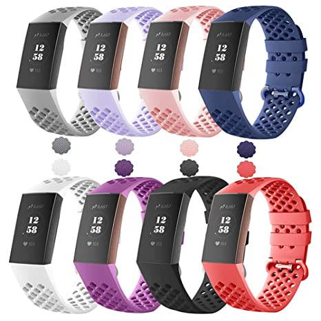 Amazon com : Carryfly Compatible with Fitbit Charge 3 Bands, Soft