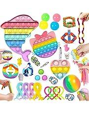 30 Pcs Sensory Relief Toy Set Cheap, Fidget Toys Set For Kids Stress And Anxiety Relief Fidget Toys, Cheap Fidget Toys Fidget Toy Kit, Fidget Set With Bubble Fun Fingertip stress ball, Etc (pink)