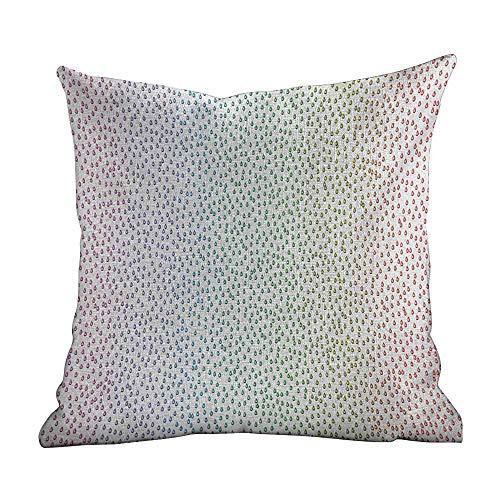 Matt Flowe Zip Pillow Case Colorful,Gradient Downpour Figure in Large Spectrum Spotted Little Liquids Wet Work of Art,Multicolor,Home Decor Sofa Cushion Case 16