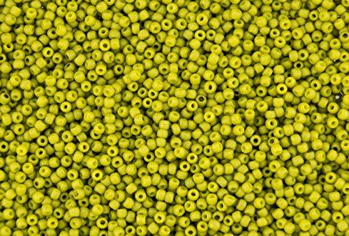 11/0 Toho Japanese Seed Beads - Semi Glazed Lemongrass #2600F (28g Tube)