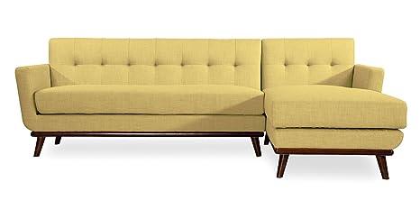 Amazon Com Kardiel Jackie Mid Century Modern Sectional Sofa Right