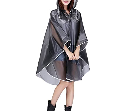 attractive & durable up-to-date styling attractive fashion DWE Rain Poncho, Transparent Clear Raincoat Motorcycle ...