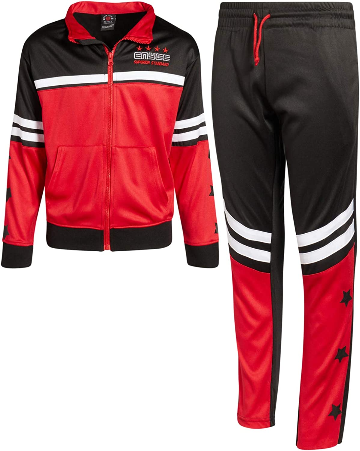 Enyce Boys 2-Piece Performance Tracksuit Set with Zip-Up Jacket and Jog Pants: Clothing