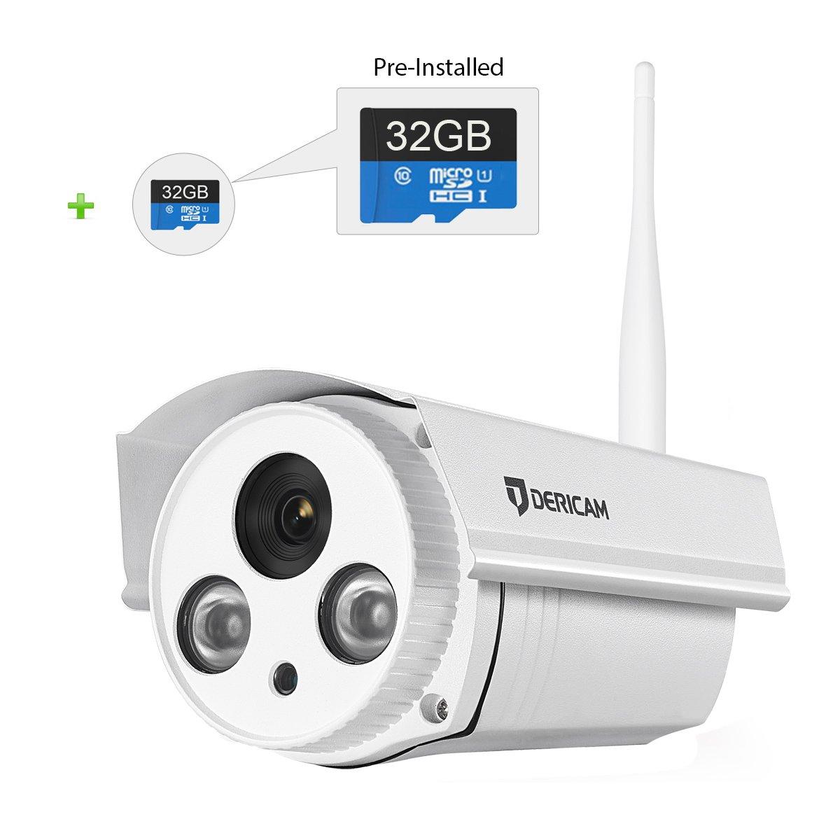 amazon com dericam wifi wireless outdoor security camera bullet