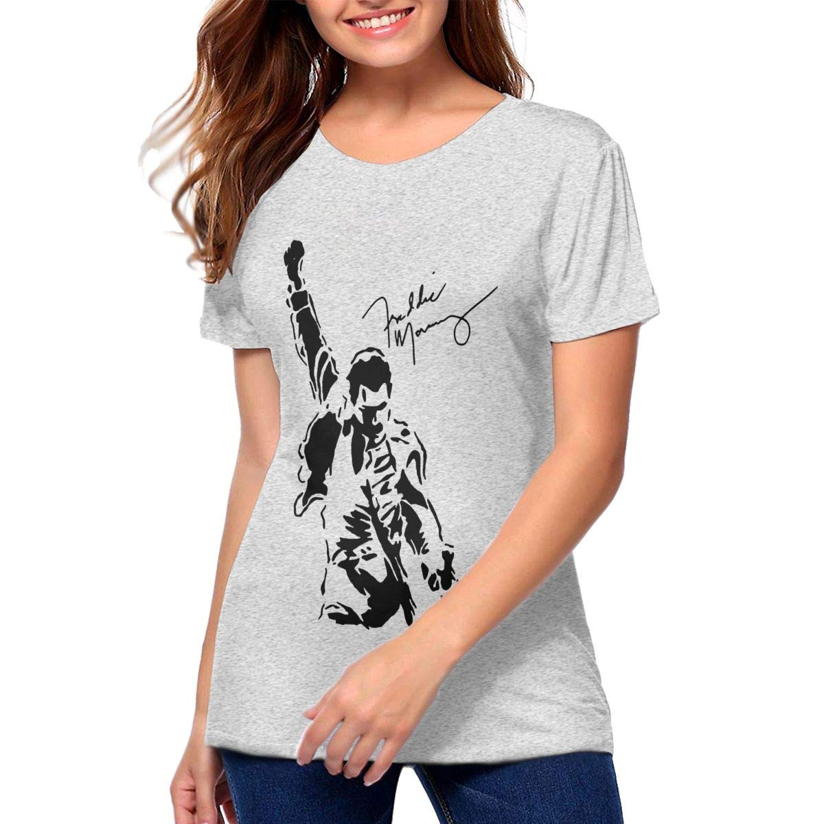 Ghyrshgryus Freddie Mercury Signature Woman S Gray Shirts