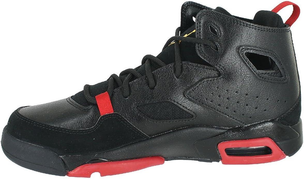 4.5 M US Big Kid Black Dandelion Varsity Red Sneakers GS Jordan 555472-067: Kids Flight Club 91