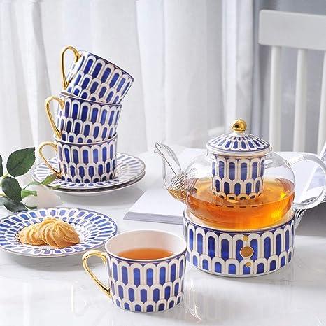 Nobrannd Taza de té y platillo Set Vitrocerámica té de ...