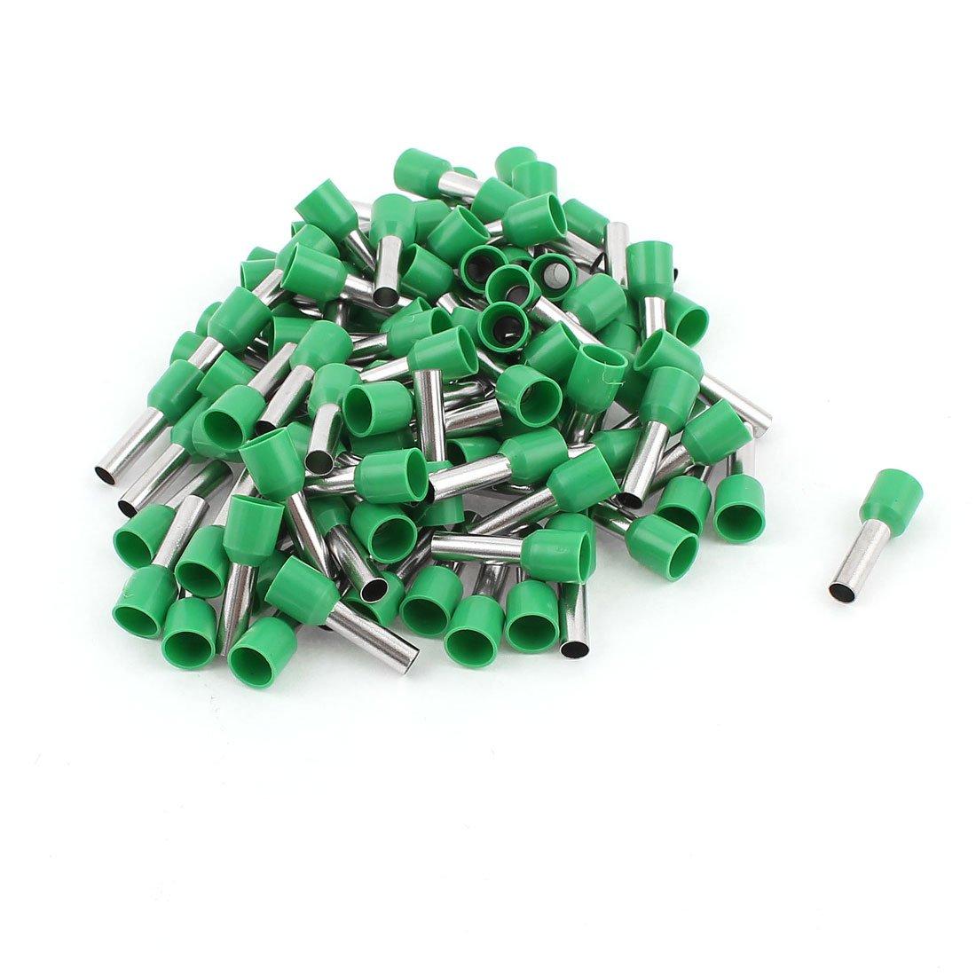 Sourcingmap/® 100 pcs 6mm2 Conector Punteras Huecas Cable crimpado terminales Aislantes Verde