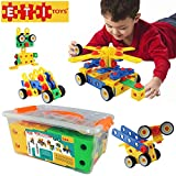 ETI Toys -92 Piece Educational Construction Engineering Building Blocks Set for 3, 4
