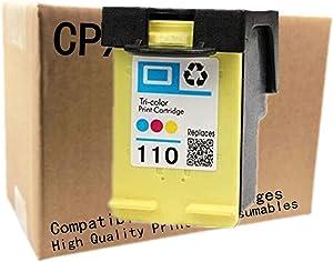 No-name Remanufactured Ink Cartridges Replacement for HP 110 XL 110XL HP110 HP110XL Photosmart A441 A444 A446 A510 A610 A620 A626 Pro B8350 A520 A820 Inkjet Printer (1 Pack)