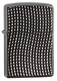 Zippo Armor Brite Cut High Polish Black Ice Squares Pocket Lighter