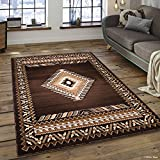 Allstar 5 X 7 Chocolate Woven Traditional Southwest Contemporary Area Rug (5' 2'' X 7' 2'')