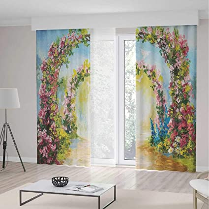 Groovy Amazon Com Yoliyana Living Room Curtains Country Living Download Free Architecture Designs Scobabritishbridgeorg