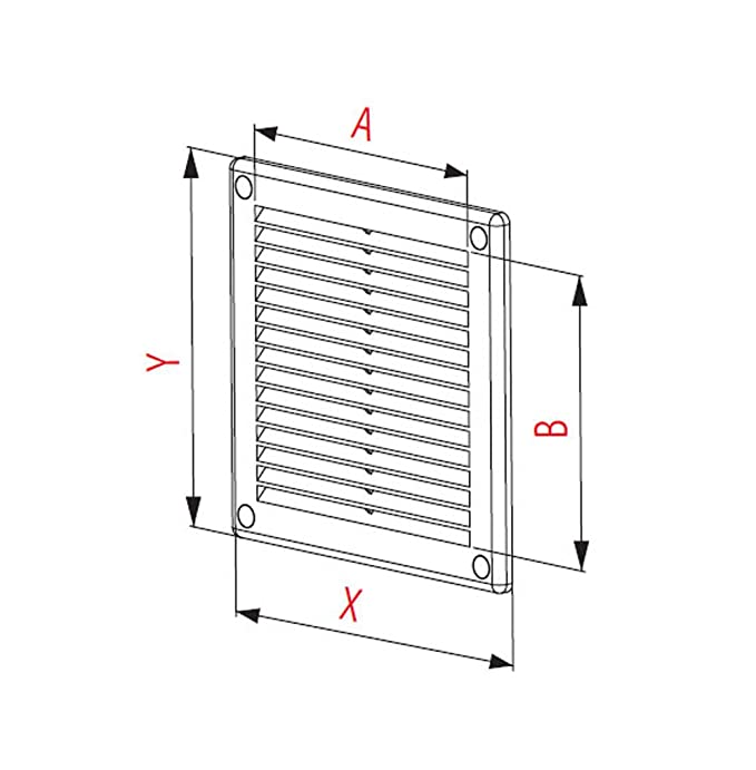 Ventilation Grille 300x300 with fly net TRU-10 White high quality plastic by FUSSY CHOICE LTD