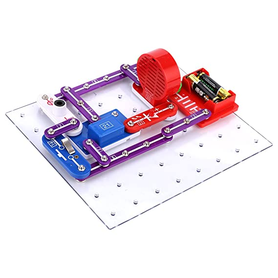 amazon com virhuck w 335 electronics discovery kit, diy buildingvirhuck w 335 electronics discovery kit, diy building blocks illumination sound electric circuit toy