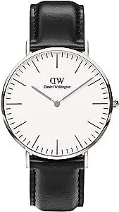 Daniel Wellington Men's Quartz Watch analog Display and Leather Strap, DW00100020