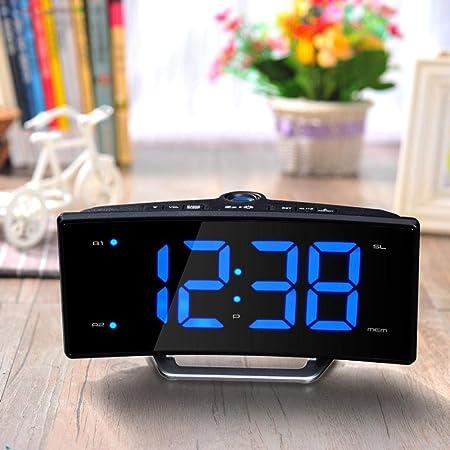 DZXYW Reloj Despertador Reloj Despertador de proyección Led con ...