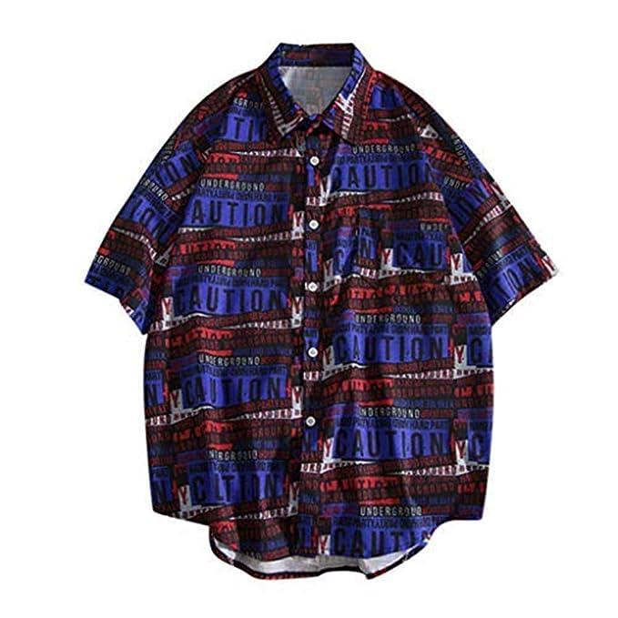 Amazon.com: HebeTop✿ Camisas hawaianas para hombre Aloha ...