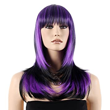 "Stfantasy Wigs for Women Long Straight Heat Friendly Synthetic Hair 23"" 164g with Bangs Wig"