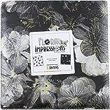 Kanvas Studio Floral Impressions Black/Ivory 10X10 Pack 42 10-inch Squares Layer Cake Benartex