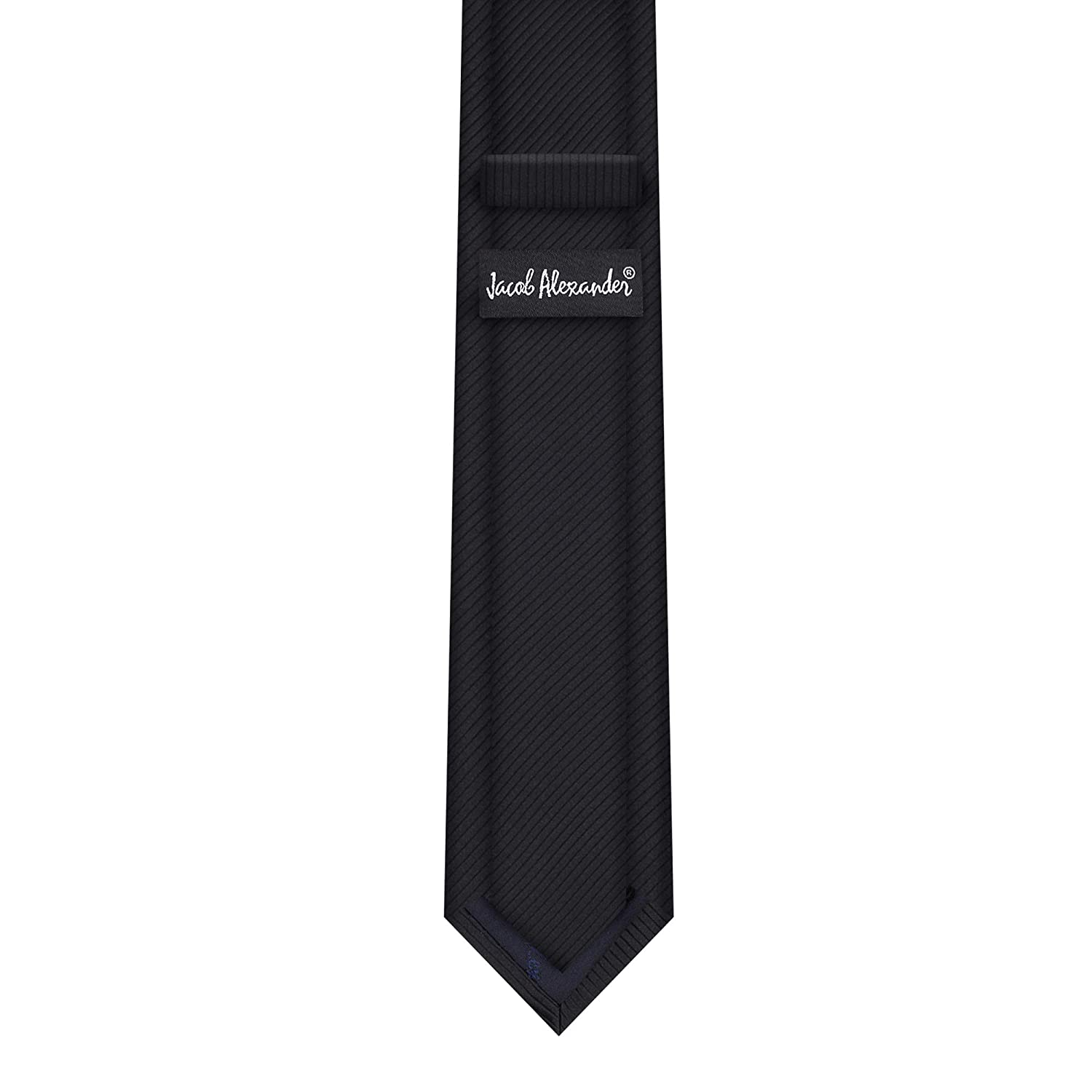 Navy Jacob Alexander Boys Tone on Tone Corded Neck Tie