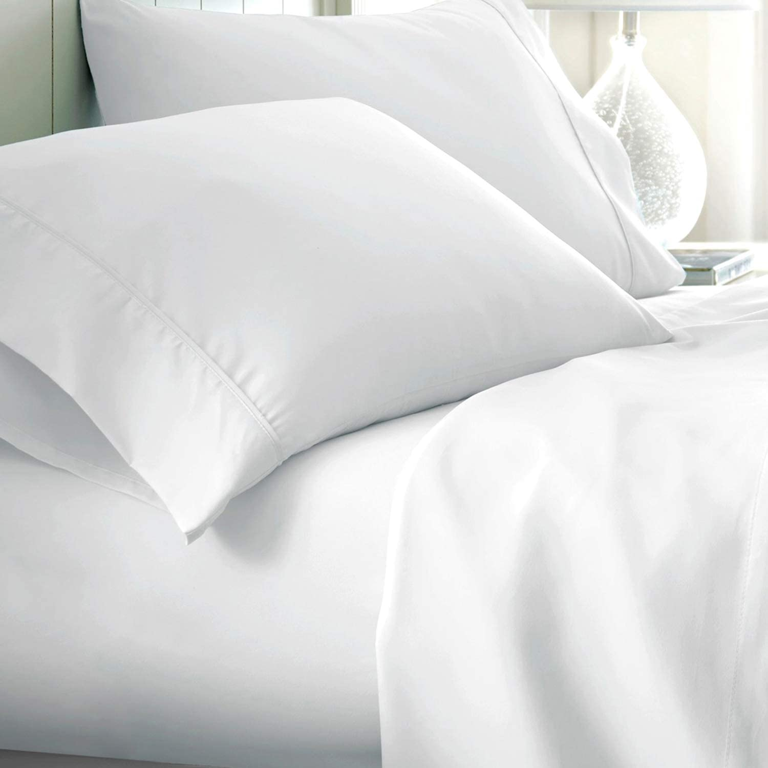 Extra Deep Pocket White Egyptian Cotton Bedding Select Item Solid US Sizes