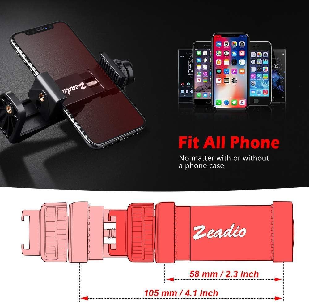 Zeadio Soporte de trípode para teléfono móvil, abrazadera ...