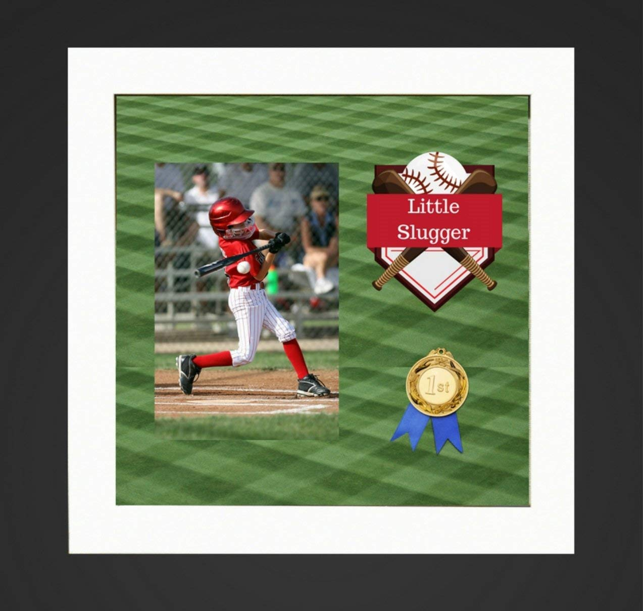 """8x8"""" White Display Shadow Box Frame (2-pack) with Linen Background - Ready To Hang Shadowbox Picture Frame - Easy to Use - Box Display, Baby and Sports Memorabilia, Uniforms, Medals, Pins, Wedding."""