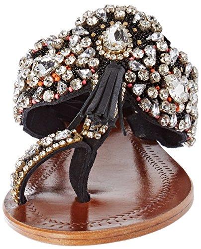Antik Batik Damen Betsy Zehentrenner Noir (Black)