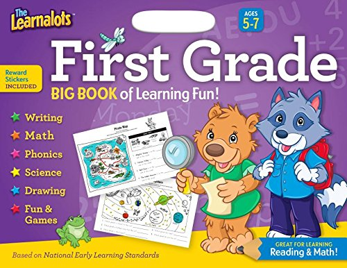 Read Online The Learnalots Big Book of Learning Fun!, Grade 1: Great for Learning Reading & Math! pdf