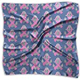 Anchor With Awareness Pink Ribbon Women's Fashion Print Square Scarf Neckerchief Headdress S
