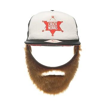 c9f5bb11550 Chuck Norris Trucker Hat With Beard Walker Texas Ranger Costume Homeboy Cap   Amazon.co.uk  Toys   Games