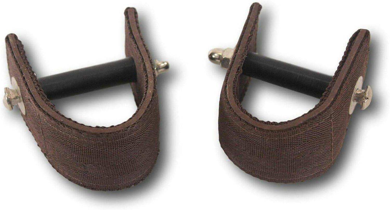 "D.A Brand 2 1//2/"" Black Comfort Ride Stirrup Mounts//Turners Horse Tack"