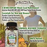 - 61 xrcBDaFL - Dr. Benjamin Rush Natural Whole Food Daily Multivitamin for Men & Women All-In-One Non-GMO Superfood Vegetarian – Best for Energy, Brain, Heart and eye health. Antioxidant Vitamin Supplement Size 90ct