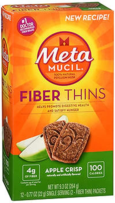 Metamucil Fiber Wafers Apple Crisp Packets, 2 ea