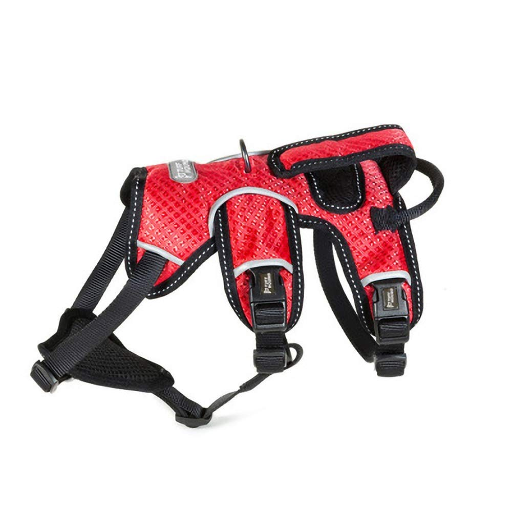 Red 68-104cm red 68-104cm Dog Strap, Chest Strap With Large Pet Dog Hyena Traction Rope Lettering Waterproof Luminous Outdoor Adjustable Multi-color Size Traction Rope, Pet Chain Collar (without Traction Rope)