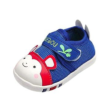 401f57aebd7f4 WNGO ShoeS Children Chaussures pour Enfant Tendance pour garçons et Filles  avec LED colorées à Rayures Automne