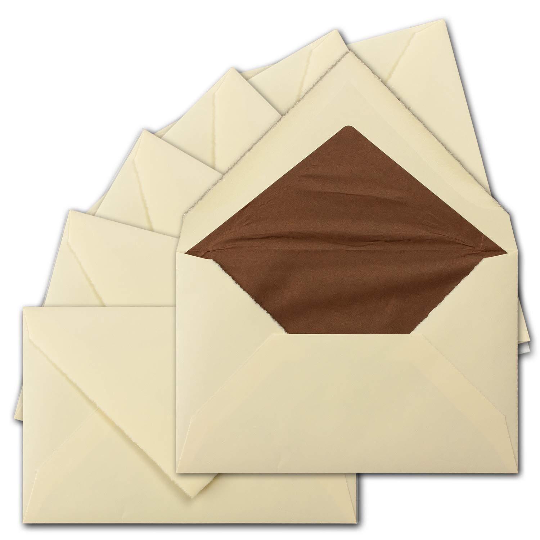 250 250 250 Stück ca. B6 Vintage Brief-Umschläge, echtes Bütten-Papier, 11,8 x 18,2 cm, Weiß halbmatt gefütterte Brief-KuGrüns - Original Zerkall-Bütten B07H2MRPVV | Sonderkauf  7b7143