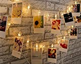 TORCHSTAR 16.4ft 40 LEDs Photo Clip String Lights, 2700K Soft White, USB Supplied, Utility Ambiance Lighting for Valentine's Day, Wedding, Reunion, Living Room, Bedroom, Study, Party, Decoration