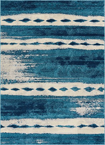 - Well Woven Merzouga Nights Moroccan Stripes Blue Area Rug 5x7 (5'3
