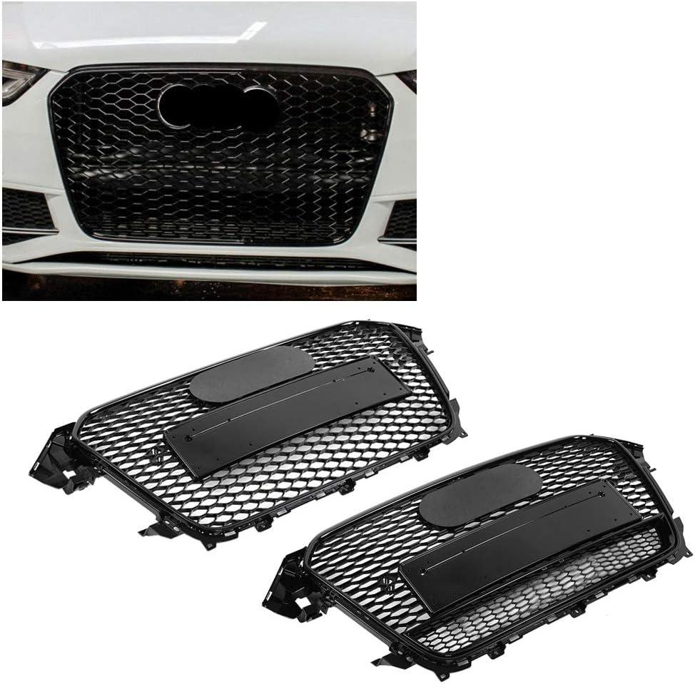 Griglia paraurti anteriore per auto colore nero stile RS4 per A4//S4 B8.5 13-16 Qii Lu lucida a nido dape sportiva