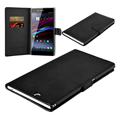 quality design 4849f a4d57 Sony Xperia Z Ultra C6802 C6806 C6833 New Black Colour Smart Wallet Book  Flip Case Cover