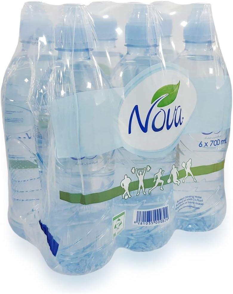 سعر نوفا مياه شرب معبأة 6 700 مل فى السعودية بواسطة امازون السعودية كان بكام