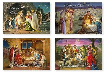 Religiöse Weihnachtskarten.Amazon De 8 Traditionelle Religiöse Weihnachtskarten Weihnachten